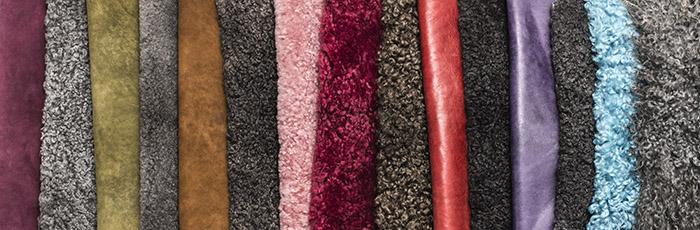 Tranås Skinnberedning färgade lammskinn till försäljning